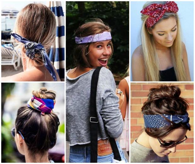 bandanas no cabelo